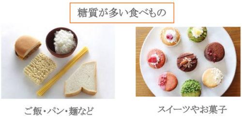 糖質が多い食べ物